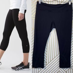 Lululemon Run: Inspire Crop II in Black